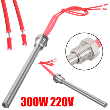 10*140mm 220V 300W Igniter Hot Rod Wood Fireplace Pellet Heating Tube For Fireplace Barbecue Grill Stove Part цена