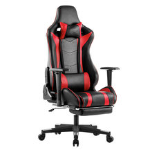LANGRIA Executive High-Back PU Leather Computer Gaming Chair with Footrest Adjustable Lumbar and Cervical Neck Cushions Office(China)