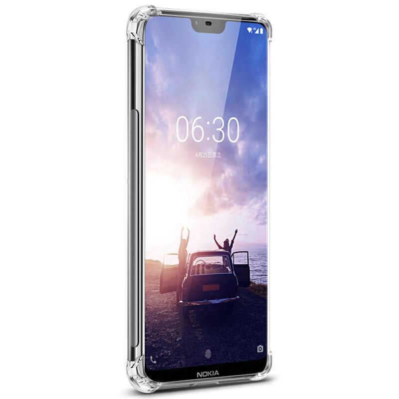 Không khí Túi Chống Sốc Ốp Lưng Điện Thoại Trong Suốt Cho Nokia 7.1 5.1 3.1 Plus 6.1 2.1 6 2018 9 Chống va đập ốp Lưng bảo vệ Cho Nokia X7 X6 X5 X3