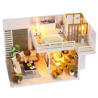 FBIL-Diy миниатюрный деревянный кукольный дом мебель наборы игрушки ручной работы ремесло Миниатюрная модель комплект кукольный домик игрушк...