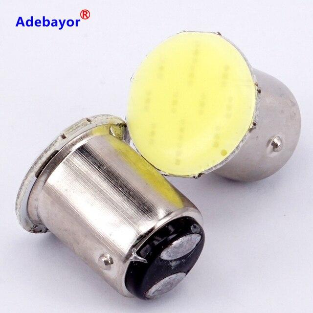 100X1157 BAY15D COB 12 SMD S25 12 Led stop lamp P21W Auto Car Signal Reverse parking Led Light Brake light white car accessories