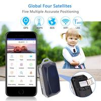 IP67 Waterproof Fashion Gemstone Pendant GSM AGPS WiFi LBS SOS Mini GPS Keys Tracker Locator For Children Student Pets