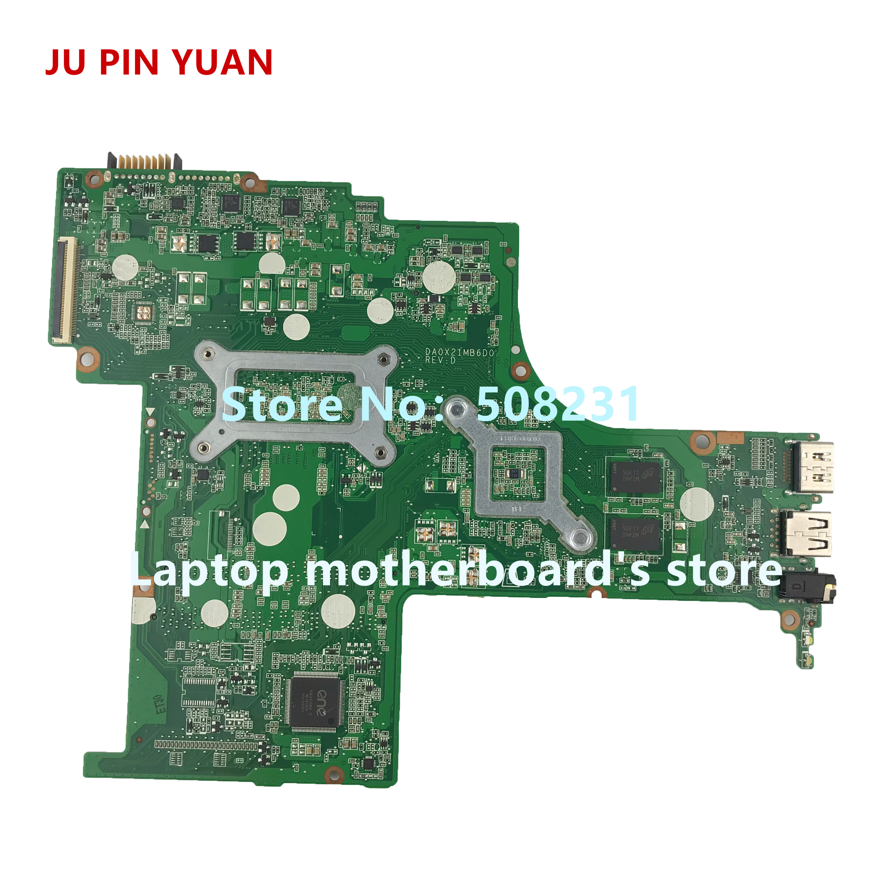 Купить с кэшбэком JU PIN YUAN 809408-501 809408-601 809408-001 DA0X21MB6D0 X21 for HP PAVILION 15-AB 15Z-AB motherboard with R7M360 2GB A10-8700P