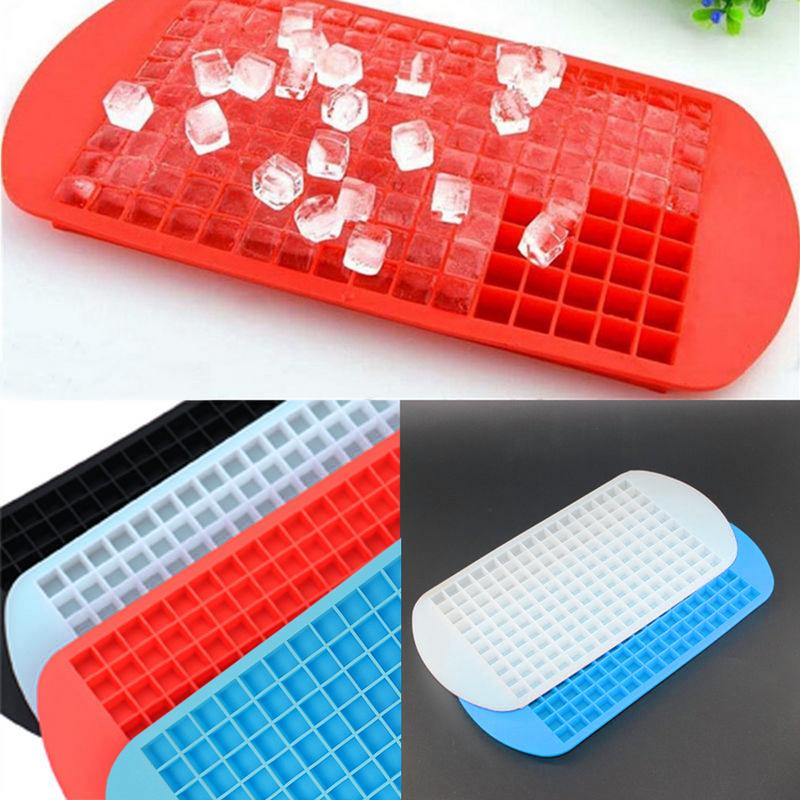 160 Compartments Silicone Ice Cube Mold Ice Maker Mini Ice Cube Non toxic Tasteless Safe Healthy Easy To Demould And Clean in Cake Molds from Home Garden