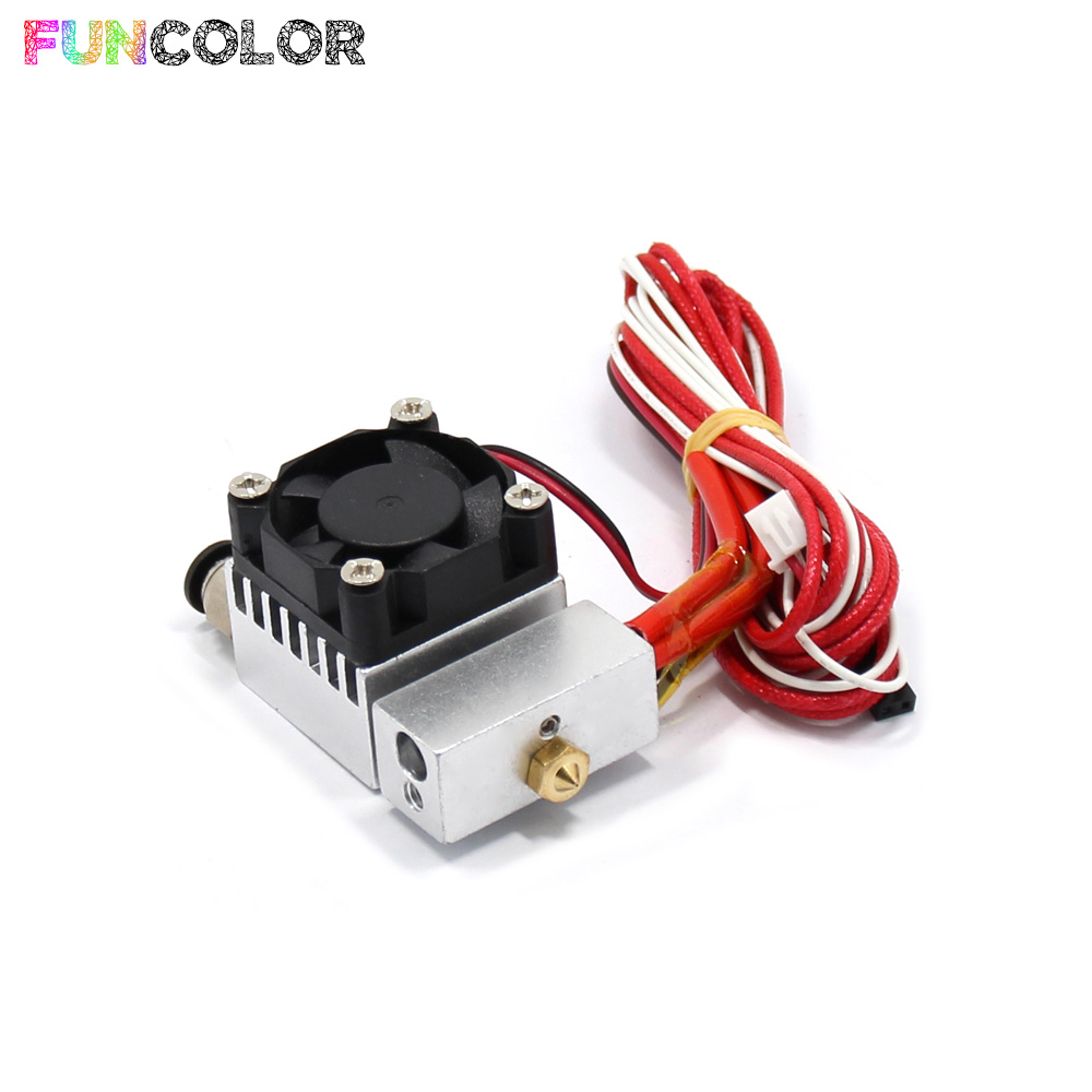 2 in 1 out J Head Single Head Remote Extruder Mix Extrusion 3D Printers Parts Metal Heat Sink Fan Part 3D Printer Accessories in 3D Printer Parts Accessories from Computer Office
