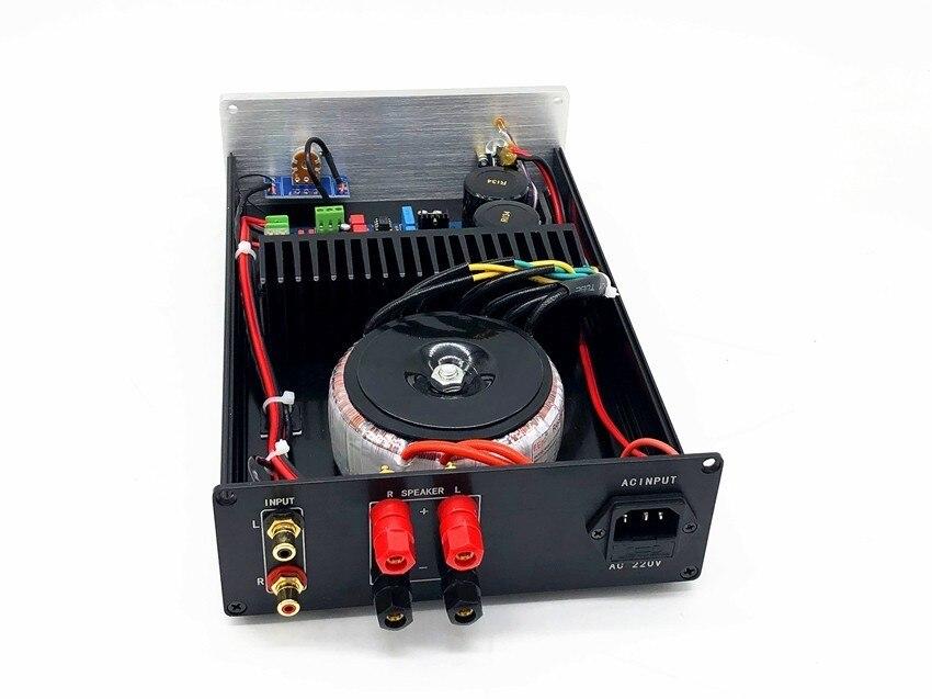 TIANCOOLKEI LM3886 Audio amplifier HIFI DIY kit LM3886TF 2 channels 120w  stereo amplifier board Kit+ Amplifier Case+Transformer