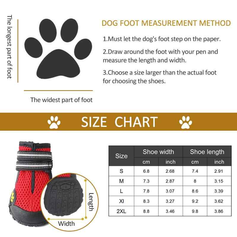 4 Chống Nước Chó Giày Ngoài Trời Chạy Thú Cưng Giày Đi Mưa có Chắc Chắn Chống trơn trượt cho Labrador Husky Trung Bình và Chó Lớn