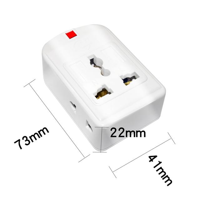 Us/Eu/Uk/Au/Cn Plug 10A 250V Power Strip Elektrische Universele Extension Socket Wireable adapter Voor Office Home Netwerk Filter
