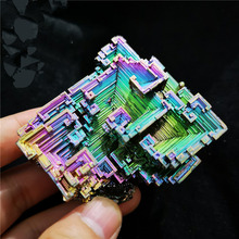 10-20g Bismuth 100% natural stone decoration Bismuth Metal crystal Beautiful Natural Antimony ore specimen for art collection D1 недорго, оригинальная цена