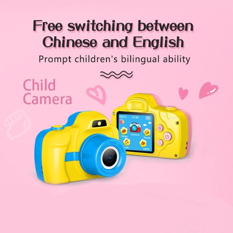 1.5 pouces DSLR Mini caméra HD Portable appareil photo numérique pour enfants bébé mignon dessin animé multifonction jouet appareil photo enfants meilleur cadeau - 2