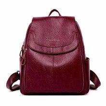 2019 mochilas de couro do sexo feminino alta qualidade sac um dos senhoras bagpack designer luxo grande capacidade casual daypack menina mochilas