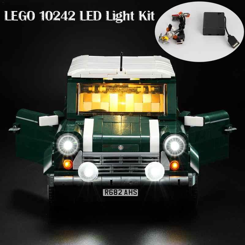 Zestaw oświetlenia LED do LEGO 10242 Mini Cooper Model cegły DIY zestaw oświetlenia Building Block części