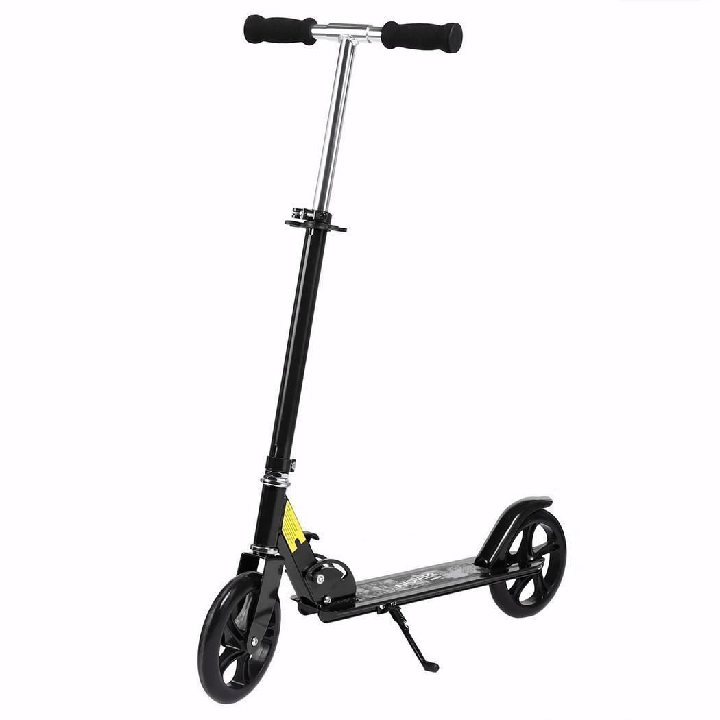 Frein à main Scooter adulte pliable 3 niveaux hauteur réglable 2 roues coup de pied Scooter alliage d'aluminium léger t-style