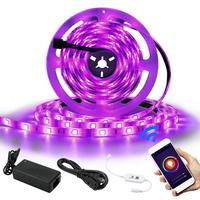 AC100 240V 2835 WiFi LED Strip Light Waterproof RGB LED Ribbon Tape Wireless Remote Controller Power Adapter Kit Set 5M