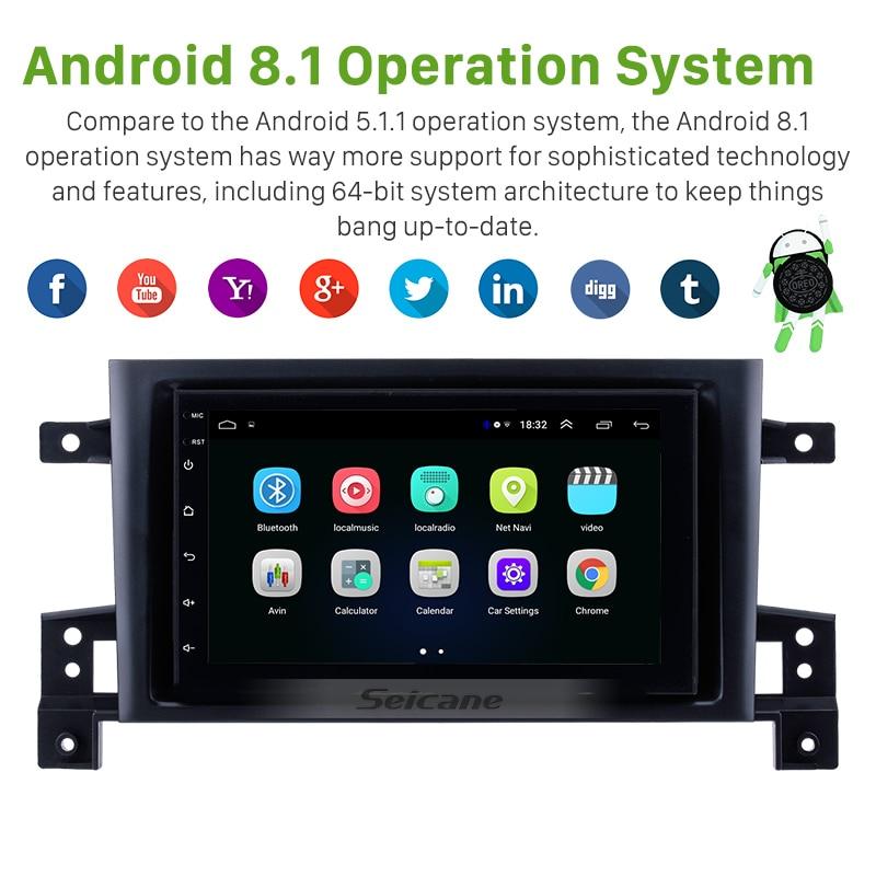 Higher Version RAM 2GB+ROM 32GB Android 8.1 Car GPS Navigation Unit Player For 2005-2015 Suzuki GRAND VITARA Support Radio TPMS