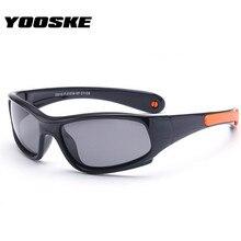 YOOSKE небьющиеся Детские поляризованные солнцезащитные очки для мальчиков и девочек, модные солнцезащитные очки, детские защитные силиконовые очки, яркие цвета, оправа