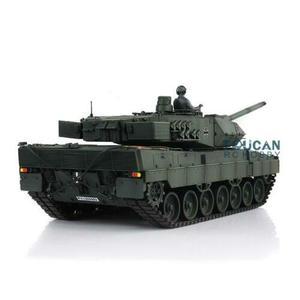 Image 5 - Henglong 1/16 зеленый 6,0 версия инфракрасный боевой Leopard2A6 RC Танк 3889 отдача ствола металлический трек Резина TH12771