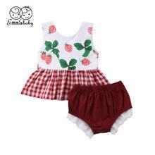 Модная одежда для малышей, комплекты одежды без рукавов для новорожденных, платье-футболка для девочек, кружевные шорты, штаны, летняя одежда, 6, 12, 18, 24, 36 месяцев