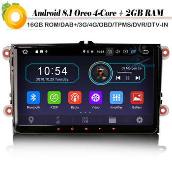 9 Quad Core Android 8.1 Autoradio DAB+ Navi WiFi 4G Radio DVR OBD2 Car GPS Navigation Player for Passat CC Golf 5/6 EOS TOURAN image
