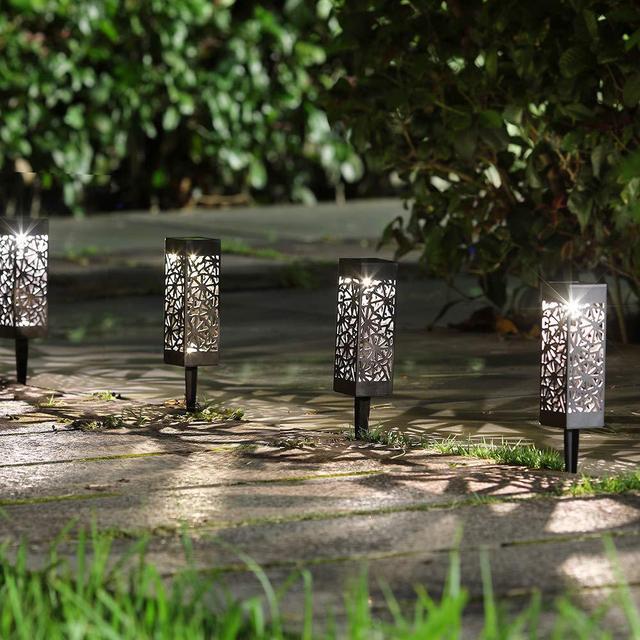 6Pc Outdoor LED Solar Garden Light Waterproof Net Cover Light Solar Lawn Lamp Garden Courtyard Landscape Lamp Home Decor