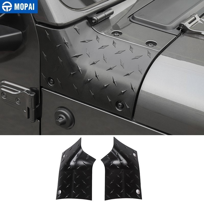 MOPAI Engine Cover Car Stickers for Jeep Wrangler JL 2018+ Car Hood Angle Wrap Covers for Jeep Wrangler JL 2019+ Car Accessories|  - title=