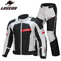 LYSCHY мотоциклетная куртка для езды на мотоцикле  светоотражающее бронированное пальто  защитный костюм  Мужская одежда для гонок  куртки  шт...