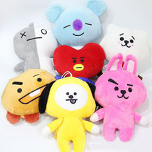 1 Pc Hot Sale Kpop BTS BT21 Plush Pillow Cartoon Soft Plush Doll Plush Toy for Kids Gift(China)