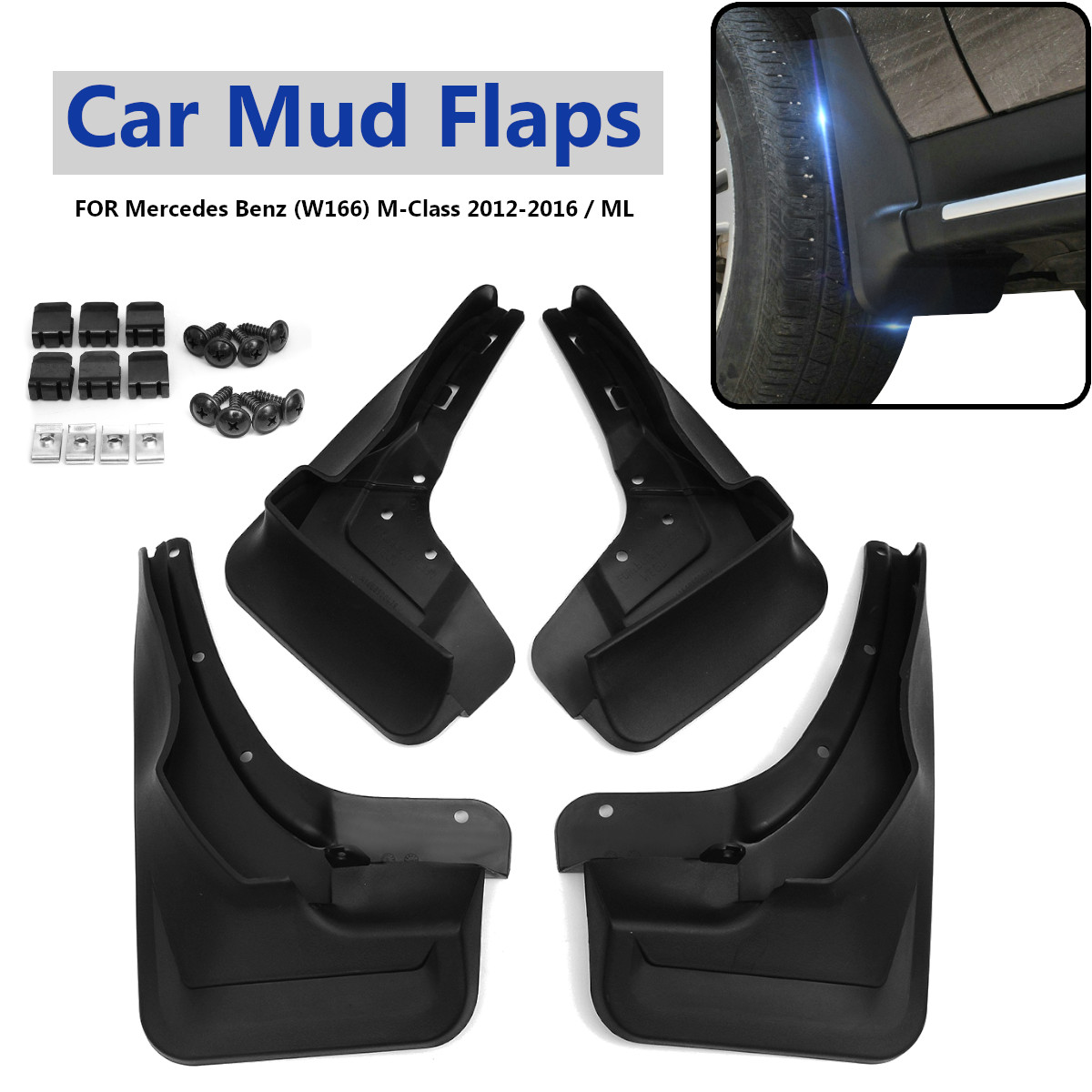 Front Rear Fender Mud Flaps For Mercedes For Benz (W166) M-Class 2012-2016 Splash Guards Mudguards Car Accessories