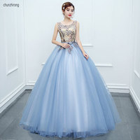 Sweet 16 Dresses Bridal Long Party Gowns Floor Length Vestido de Debutante Para 15 anos De Sleeveless Quinceanera Dress