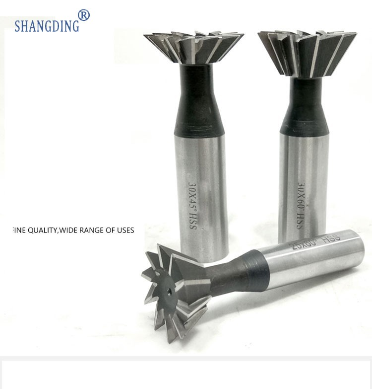 20mm 45 Degree Straight shank HSS Dovetail Milling Cutter End Mill Smooth