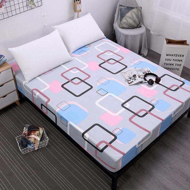 New Fitted Sheet On Elastic Band Mattress Cover with All-around Elastic Rubber Band Printed Bed Sheet Hot Selling