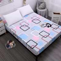 Nueva Funda de colchón de banda elástica con banda elástica de goma elástica impresa sábana de cama Venta caliente