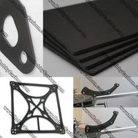 Full Carbon fiber plate twill matte sheet 4.0x400x500mm cutting service