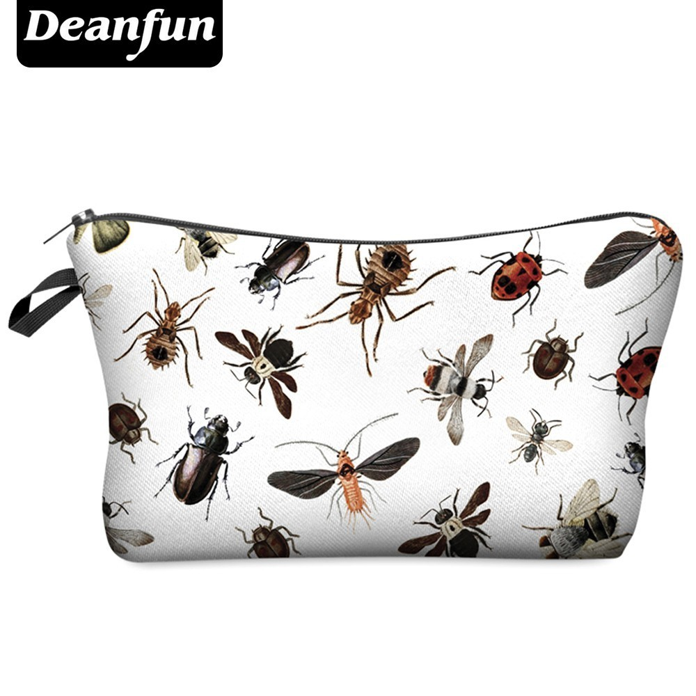 Deanfun 3D Printing Vivid Insects Cosmetic Bags Women Fashion Fun Waterproof Makeup Bag Gift Organizer  Hzb-8 #