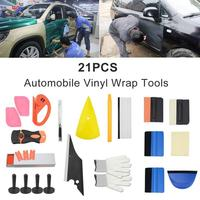 21pcs/set Car Wrap Vinyl Tools Kit Squeegee Tools Vehicle Car Film Sticking Scraper Set Car Styling Auto Car Accessories