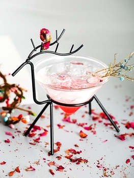 New Brandreth Mule Deer Martini Cocktail Glass Wedding Party Bar Nightclub Champagne Coupes Flutes Cone Muller Tipsy Wine Cup