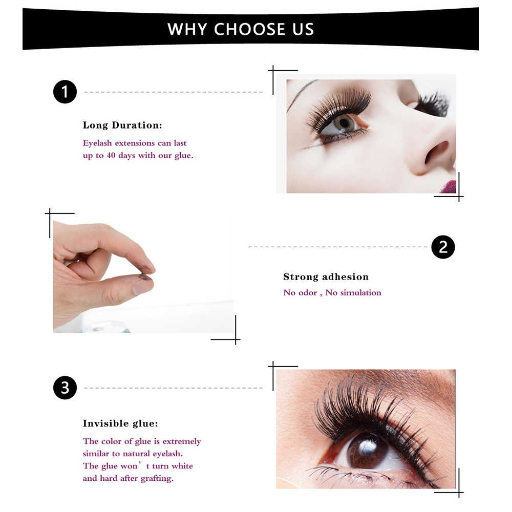 c4c39750ac1 ... GLAMLASH 5ml/10ml 2-3s Fast Dry non odor no simulation eyelash  extension glue ...