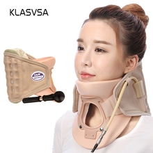 KLASVSA Inflatable Cervical Neck Traction Massager Therapy Device Adjustable Neck Stretche