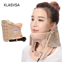 KLASVSA Inflatable Cervical Neck Traction Massager Therapy Device Adjustable Neck Stretcher Collar Spine Health Care Relaxation