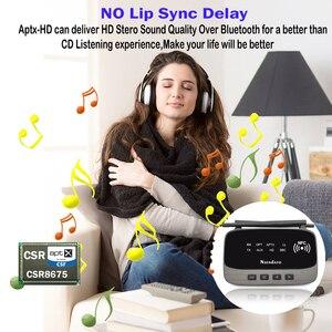 Image 3 - 262ft/80 متر NFC طويلة المدى بلوتوث 5.0 ستيريو الصوت الموسيقى جهاز ريسيفر استقبال وإرسال 3 في 1 محول الصوت اللاسلكي الكمون المنخفض aptX HD