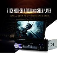Universal Car GPS Navi Single 1 Din 7 Inch HD Touch Screen DVD/CD/MP3/MP5 Player Bluetooth GPS Navigation+Camera