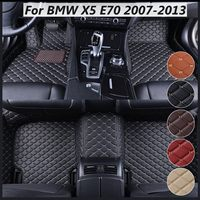 Car PU Leather Front Rear Floor Mats Set For BMW Liner Waterproof 5 Seat Mat For BMW X5 E70 2007 2008 2009 2010 2011 2012 2013