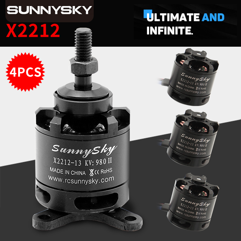 Original SUNNYSKY X2212 KV980 KV1250 KV1400 KV2100 KV2450 Brushless Motor Short shaft Quad Hexa copter Wholesale