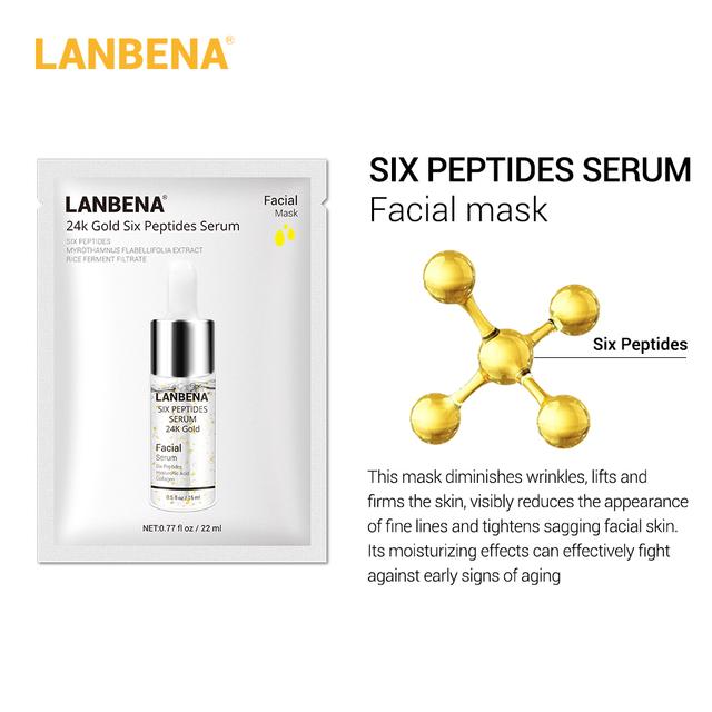 LANBENA Face Masks Vitamin C Hyaluronic Acid Serum Blueberry Sheet Mask Moisturize Water-locking Whitening Anti-aging  Skin Care