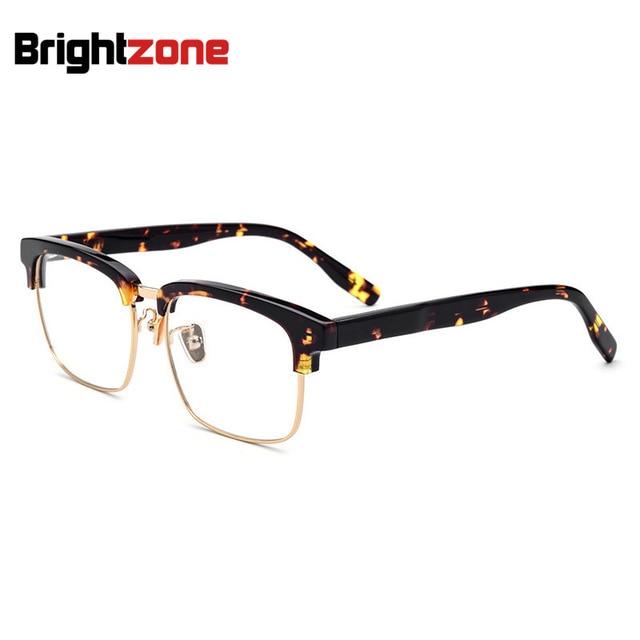 b470f2ff3e High End Square Shape Browline Style Optics Spectacle Frame For Men  Eyeglasses Retro Optical Optical Kingsman Glasses Wide Specs