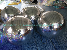 Pvc1.2m silver inflatable mirror ball, gold inflatable mirror ball, free delivery of an air pump, other sizes can be customized цена и фото