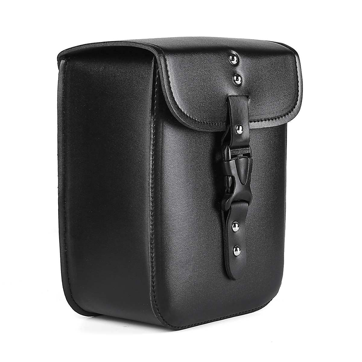 Black PU Leather Motorcycle Tool Saddle Case Bags Side Storage Side Storage Tool Pouches With Mounting Straps