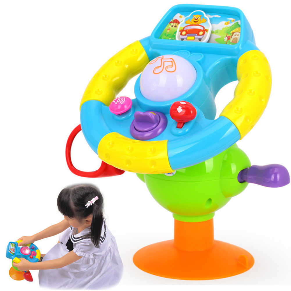 Creative Simulation Toy Driving Steering Wheel Equipped with Lights, Music Various Driving Sounds Toys Child Early Education Toy