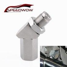 SPEEDWOW Oxygen Sensor Extender 45 Degree CEL Check Engine Light Fix O2 Sensor Spacer With Catalytic Converter