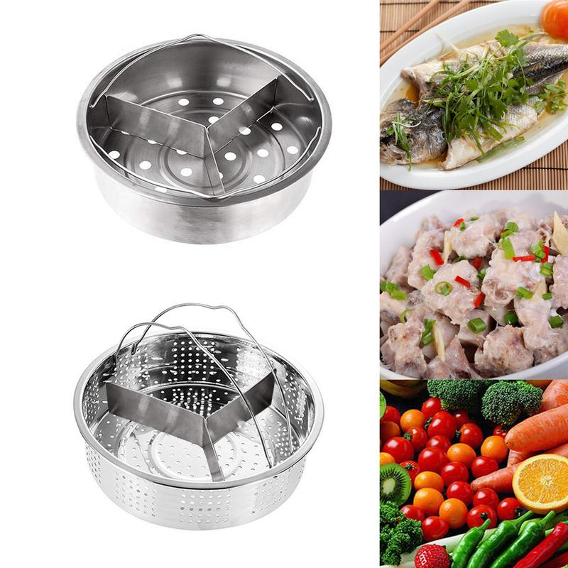 Practical Stainless Steel Split Detachable Steamer Set Durable Safe Pressure Cooker Peripheral Cookware Pot Supplies Accessories
